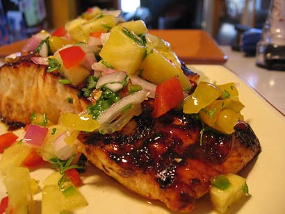 Chili-Ginger Grilled Halibut with Fresh Pineapple Salsa ...