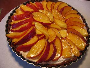 Nectarine & Marscapone Tart with a Gingersnap Crust « Je ...
