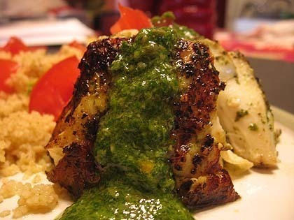 off by saying i grilled halibut with baked chimichurri halibut grilled ...