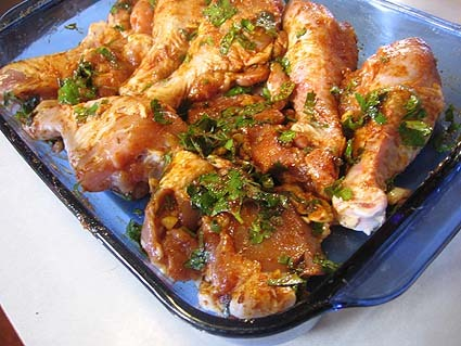 oil in a large Dutch oven or a tagine over high heat. Season chicken ...