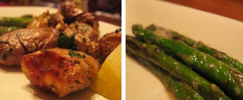 potato & asparagus