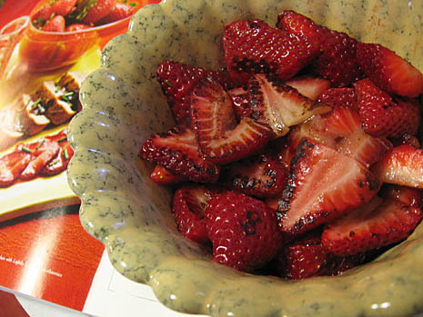 pork & strawberries