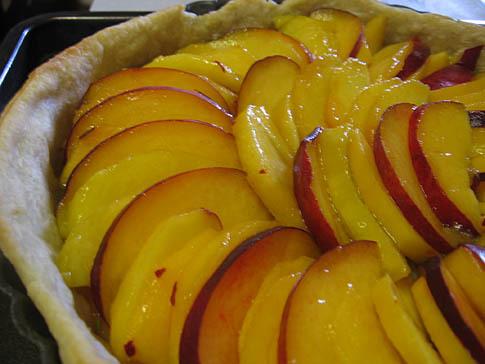 Peach and Rosemary Tart