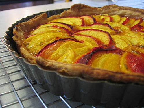 Peach and Rosemary Tart