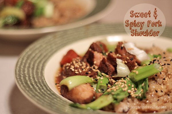Sweet and Spicy Asian Pork Shoulder (Slow Cooker Recipe)