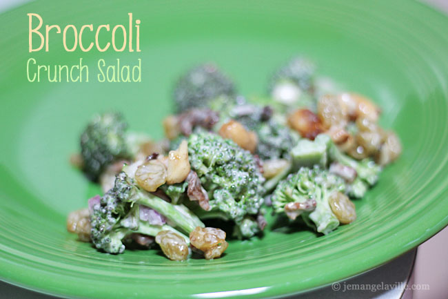 Broccoli Crunch Salad (à la Whole Foods) « Je Mange la Ville