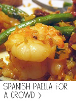 Spanish Paella for a Crowd