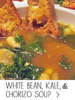 White Bean, Kale and Chorizo Soup